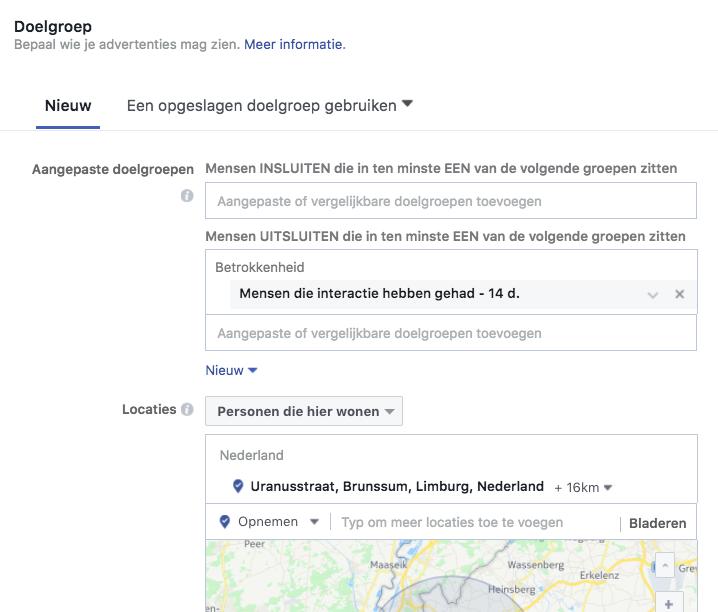 Facebook Doelgroep Adverteren